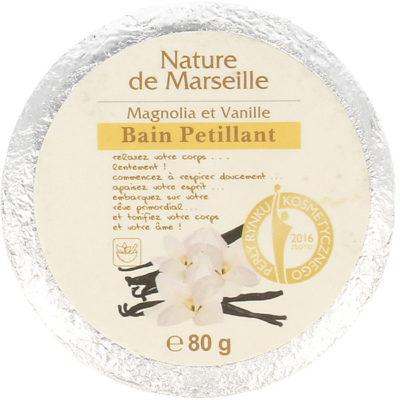 Estetica Nature De Marseille Bain Petillant Kostka Musująca Do Kąpieli O Zapachu Magnolii I Wanilii 80g