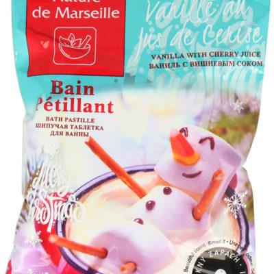 Estetica Nature De Marseille Bath Pastille Musująca Pastylka Do Kąpieli O Zapachu Słodkiej Wanilii Z Sokiem Wiśniowym