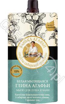 EUROBIO LAB Babuszka Agafia biała glinka pieniąca się mydło do ciała 100 ml