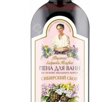 EUROBIO LAB Babuszka Agafia pianka do kąpieli na bazie korzenia z mydlnicy lekarskiej zioła syberii 500 ml