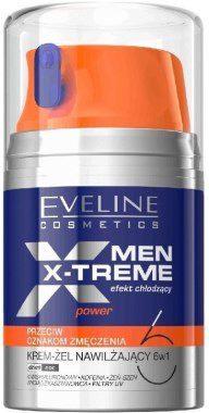 Eveline Cosmetics Krem-żel nawilżający 6 w 1 dla mężczyzn przeciw oznakom zmęczenia - Cosmetics Men X-Treme Power Cream-Gel 6In1