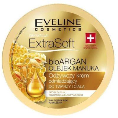 Eveline Extra Soft Odżywczy krem odmładzający do twarzy i ciała bio ARGAN i OLEJEK MANUKA 175ml 42584-uniw