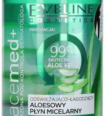 Eveline Facemed+ Odświeżająco-łagodzący płyn micelarny Aloesowy 400 ml
