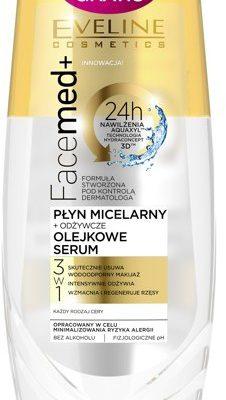 Eveline FACEMED Płyn micelarny+serum olejkowe
