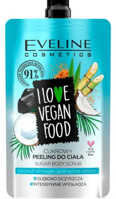Eveline I LOVE VEGAN FOOD Cukrowy peeling do ciała Kokos 75ml