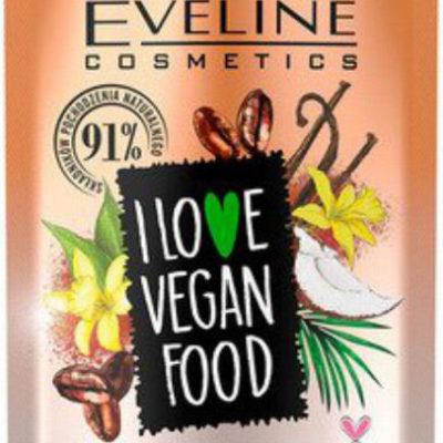 Eveline I LOVE VEGAN FOOD - VANILLA LATTE SUGAR BODY SCRUB - Cukrowy peeling do ciała - KAWA WANILIOWA - 75 ml