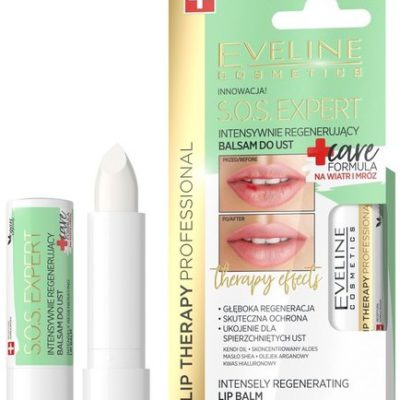 Eveline Lip Therapy S.O.S Expert Intensywnie regenerujący balsam do ust Care Formula