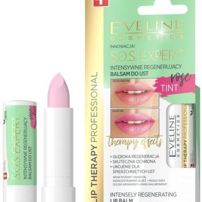 Eveline Lip Therapy S.O.S Expert Intensywnie regenerujący balsam do ust Tint Rose