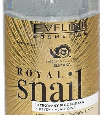 Eveline ROYAL SNAIL MICELLAR WATER - Intensywnie regenerujący płyn micelarny ze śluzem ślimaka EVEMSSL