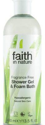 Faith In Nature Płyn do kąpieli / żel pod prysznic bezzapachowy 400ml -