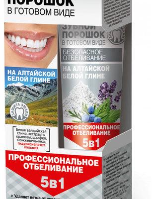 Fitokosmetik Fitokosmetik Proszek dentystyczny w postaci pasty na białej glince ałtajskiej 45ml