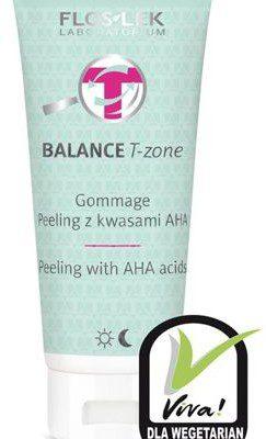 Flos Lek Balance T-Zone Gommage 125 ml Peeling z kwasami AHA do cery mieszanej Lek