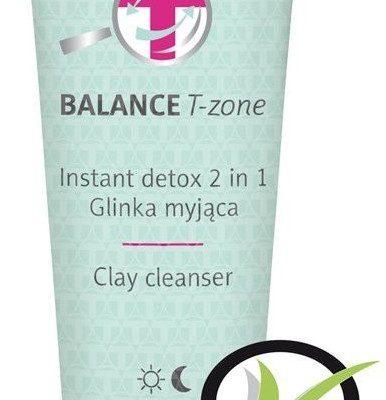 FLOS-LEK Floslek Balance T-Zone Glinka myjąca Instant Detox 2w1 do cery mieszanej 125ml 146734