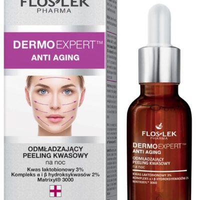 Floslek Pharma Dermo Expert Anti Aging peeling kwasowy na noc odmładzający 30 ml