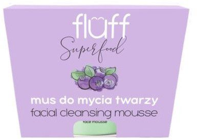 FLUFF Mus do Oczyszczania Twarzy Jagody Leśne, Superfood, Fluff, 50 ml