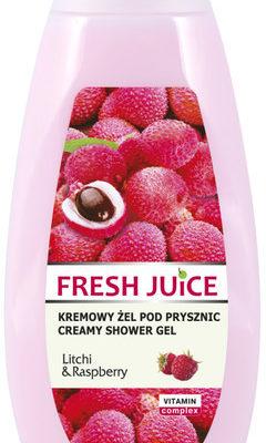 Fresh Juice litchi & raspberry kremowy żel pod prysznic 400ml