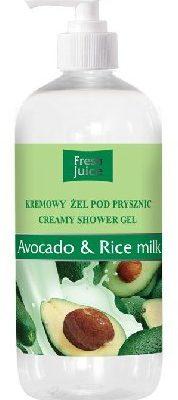 Fresh Juice Żel pod prysznic kremowy Avocado i Mleko Ryżowe 500ml ELFA PHARM