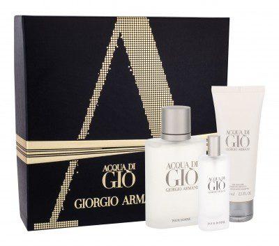 Giorgio Armani Giorgio Giorgio Acqua di Gio Pour Homme zestaw Edt 100 ml + Edt 15 ml + Żel pod prysznic 75 ml dla mężczyzn