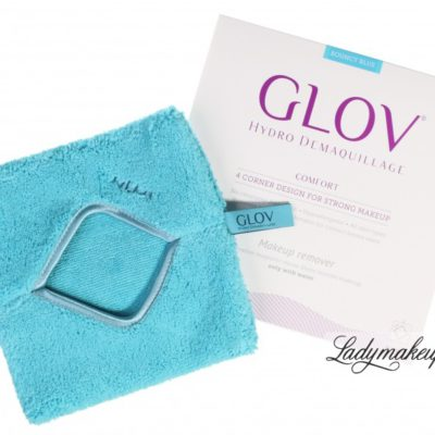 GLOV HYDRO DEMAQUILLAGE - COMFORT COLOR EDITION - Rękawica do demakijażu i oczyszczania skóry - BOUNCY BLUE GLOBB011