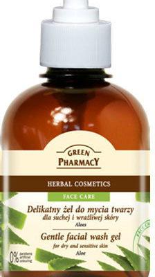 Green Pharmacy Delikatny żel do mycia twarzy Aloes 270ml