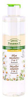 Green Pharmacy Face Care Chamomile woda micelarna 3 w 1 0% Parabens Soaps Artificial Colouring Fragrances 250 ml
