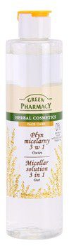 Green Pharmacy Face Care Oat woda micelarna 3 w 1 0% Parabens Soaps Artificial Colouring Fragrances 250 ml