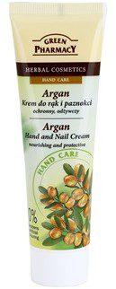 Green Pharmacy Hand Care Argan krem odżywczo-ochronny do rąk i paznokci 0% Parabens Artificial Colouring 100 ml