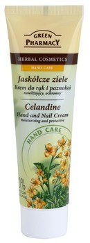 Green Pharmacy Hand Care Celandine nawilżający krem ochronny do rąk i paznokci 0% Artificial Colouring 100 ml