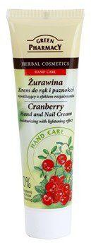 Green Pharmacy Hand Care Cranberry krem nawilżający do rąk i paznokci o działaniu rozjaśniającym 0% Parabens Artificial Colouring 100 ml