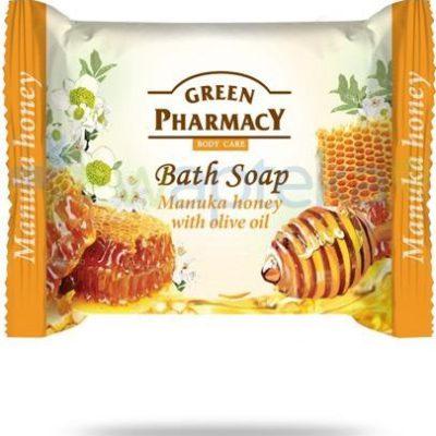 Green Pharmacy PHARM POLSKA Green Pharmacy mydło toaletowe miód manuka olejek z oliwek 100 g Pharm 7062411