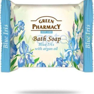 Green Pharmacy PHARM POLSKA Green Pharmacy mydło toaletowe niebieski irys olejek arganowy 100 g Pharm 7062451