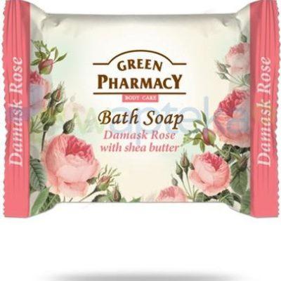Green Pharmacy PHARM POLSKA Green Pharmacy mydło toaletowe róża damasceńska masło shea 100 g Pharm 7062431