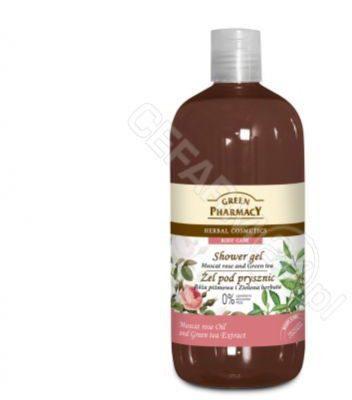 Green Pharmacy Róża Piżmowa i Zielona Herbata 500 ml - żel pod prysznic