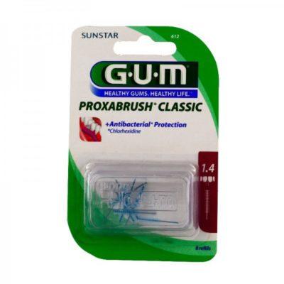 GUM Sunstar Butler czyściki międzyzębowe Proxabrush Classic nr kat. 612 - końcówki do rączki 605