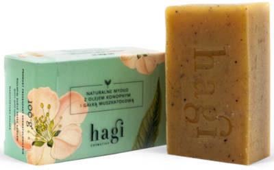 HAGI COSMETICS Naturalne mydło z olejem konopnym i gałką muszkatołową 100g HAGI