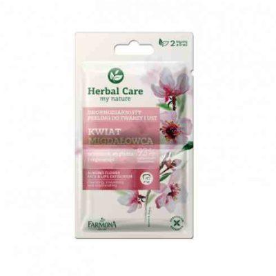 Herbal Care Herbal Care Drobnoziarnisty peeling do twarzy i ust Kwiat Migdałowca oczyszcza, wygładza i regeneruje 2x5ml