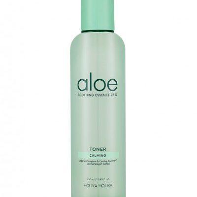 Holika Holika Nawilżający toner z ekstraktem z aloesu i centelli azjatyckiej, Aloe Soothing Essence 98% Toner 250ml
