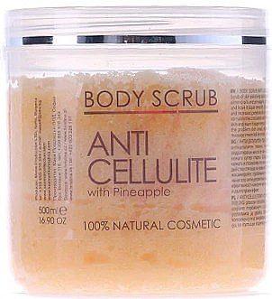 Hristina Cosmetics Antycellulitowy peeling do ciała Ananas - Hristina Cosmetics Sezmar Professional Body Scrub Anti Cellulite With Pineapple