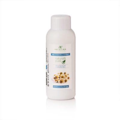 Hristina Hristina Naturalne mleczko oczyszczające do oczu, twarzy i ust  rumianek 150 ml