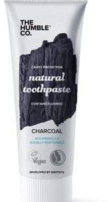 Humble Brush Charcoal  - Naturalna pasta do zębów z węglem aktywnym i fluorem, wybielająca, 75 ml Pas000308