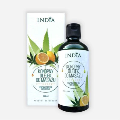 India Cosmetics India Konopny olejek do masażu cytrusowy 100ml