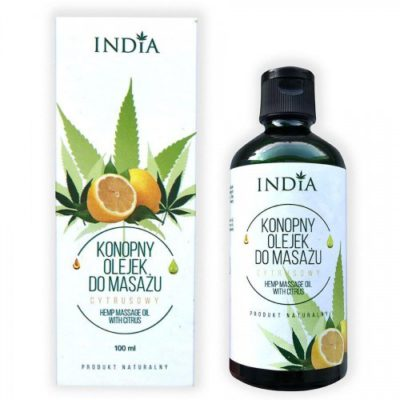 India Konopny olejek do masażu - cytrusowy India, 100 ml