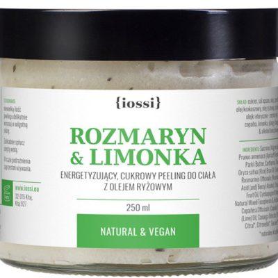 Iossi Rozmaryn i Limonka, cukrowy peeling do ciała, 250ml IOS000017