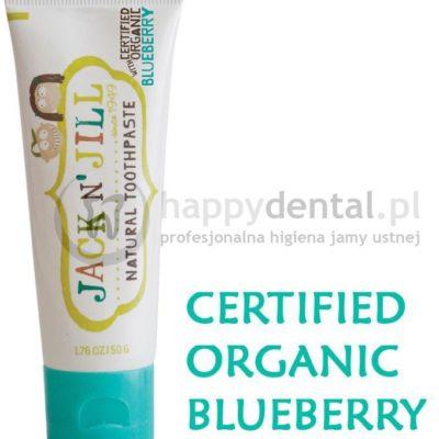 Jack NJill JACK-N-JILL organiczna BORÓWKA + Xylitol 50g - naturalna pasta do zęb