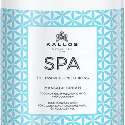 KALLOS SPA Massage cream nawilżający krem do masażu ciała 1000ml