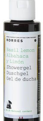 Korres Mini żel pod prysznic o zapachu bazylii i cytryny 40 ml