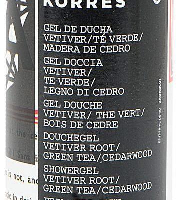 Korres Vetiver Root Green Tea/Cedarwood 250 ml żel pod prysznic