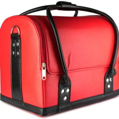 Kuferek Kosmetyczny Torba Na Lakiery Czerwony