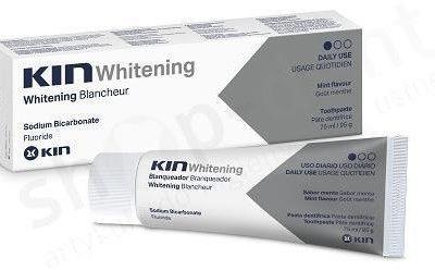 Laboratorios Kin KIN Whitening - Pasta wybielająca do zębów o niskim współczynniku ścieralności 75ml