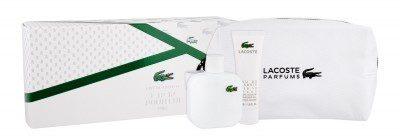 Lacoste Eau De L.12.12 Blanc zestaw 100 ml Edt 100 ml + Żel pod prysznic 50 ml + Kosmetyczka dla mężczyzn
